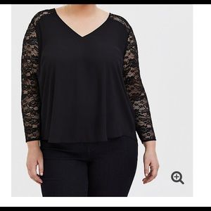 Torrid black lace blouse